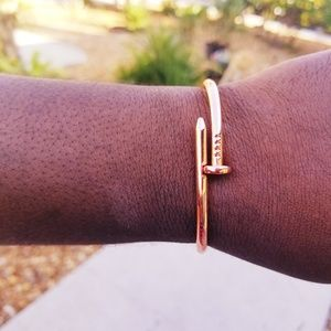 Other - Unisex Rose gold stainless steel Nail Cuff Bangle